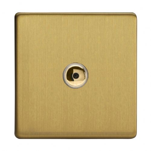 Varilight IJDBI101S Screwless Brushed Brass 1 Gang Remote/Touch Master LED Dimmer 0-100W